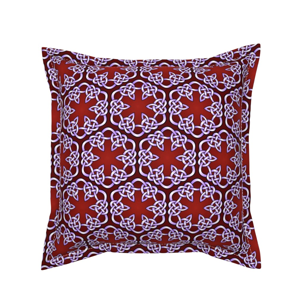 Serama Throw Pillow featuring celtic knot hexagons by hannafate