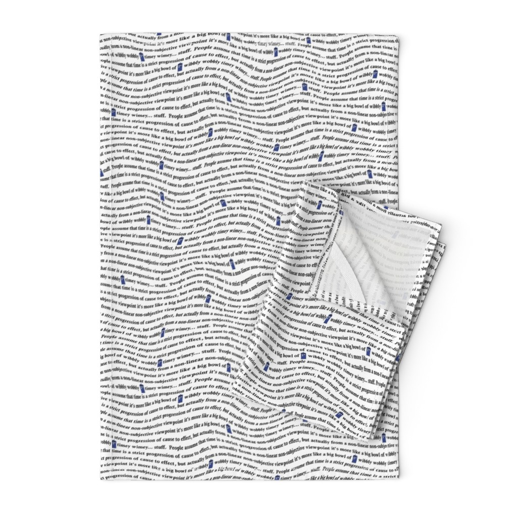 Orpington Tea Towels featuring wibbly wobbly timey wimey stuff by spacefem
