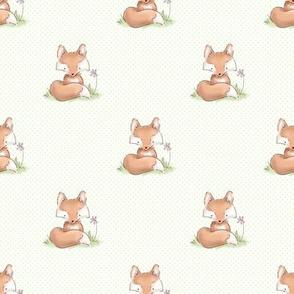 Woodland Nursery Fox with Green Dots