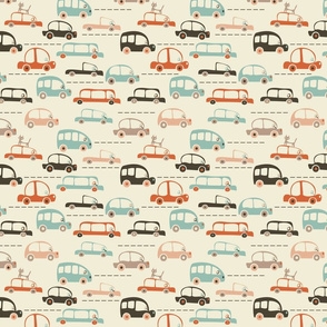 cartoon cars in vector