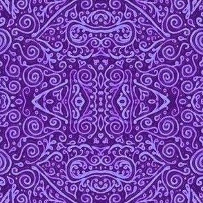 bridal mendhi - purple