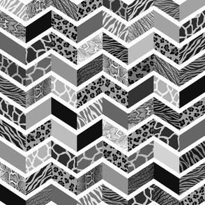 Animal Print Chevron - Black & White