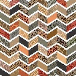 Animal Print Chevron - Safari
