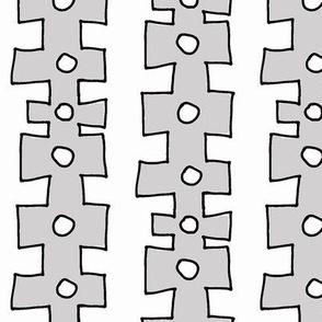 knobby Doodle Dot 2 (dove grey)