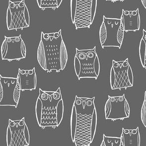 (Little) Night Owl Gray/White