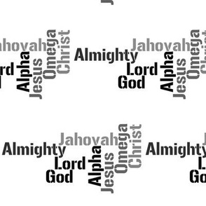 Names of God (Black & White)
