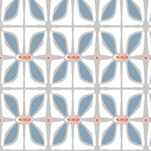 Petals (grey & blue)