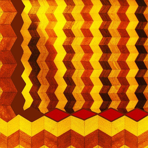 I Could Have Danced All Night Chevron Cheater Quilt