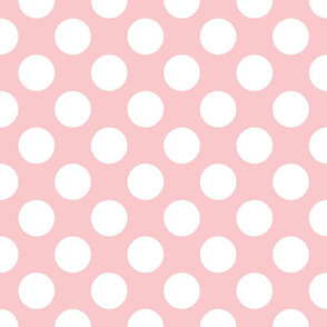 Dauphine Pink and White ~ Polkadot
