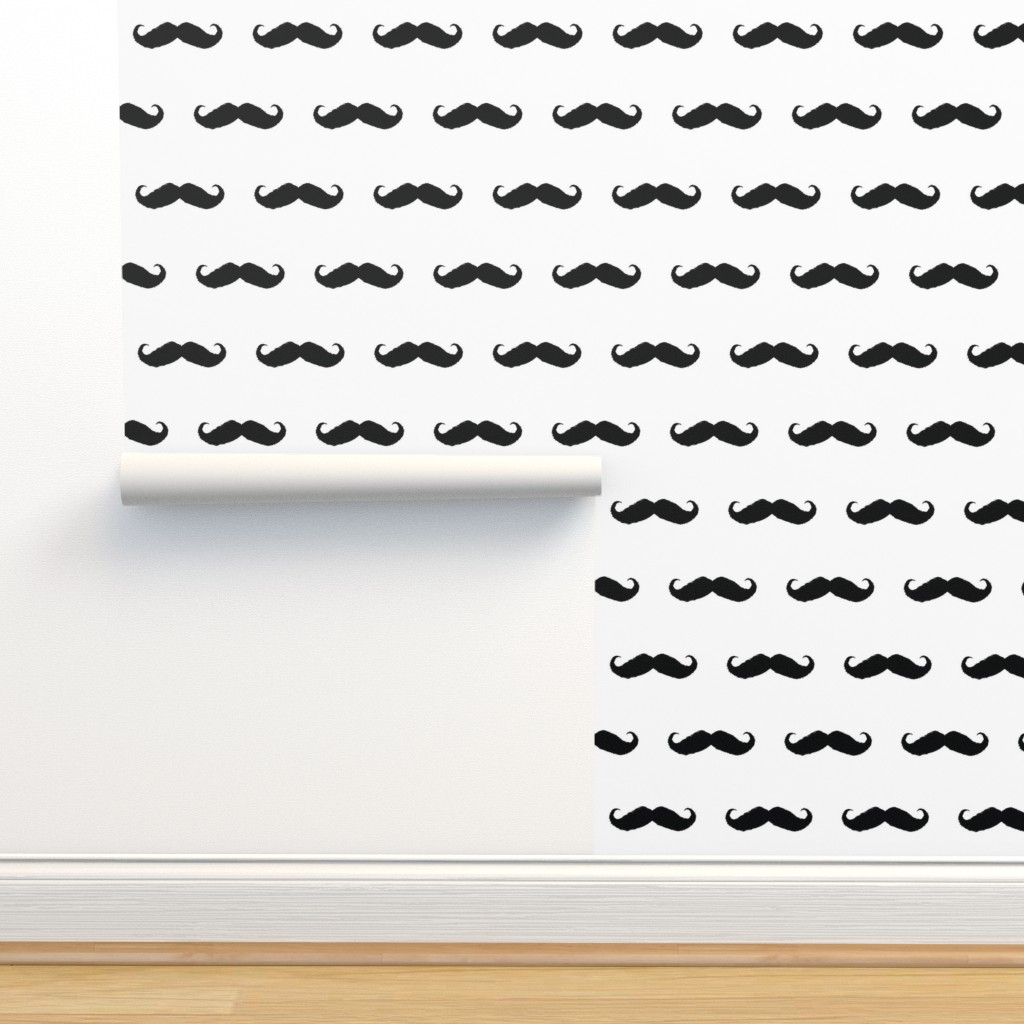 Isobar Durable Wallpaper featuring mustache_ikat by katarina