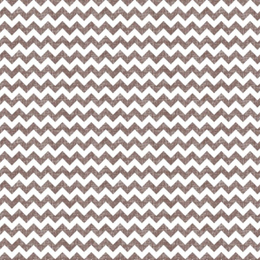 linen chevrons - chocolate brown