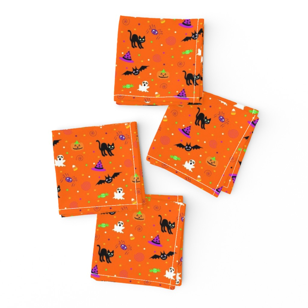 Frizzle Cocktail Napkins featuring halloween_ditsy_print by mejo