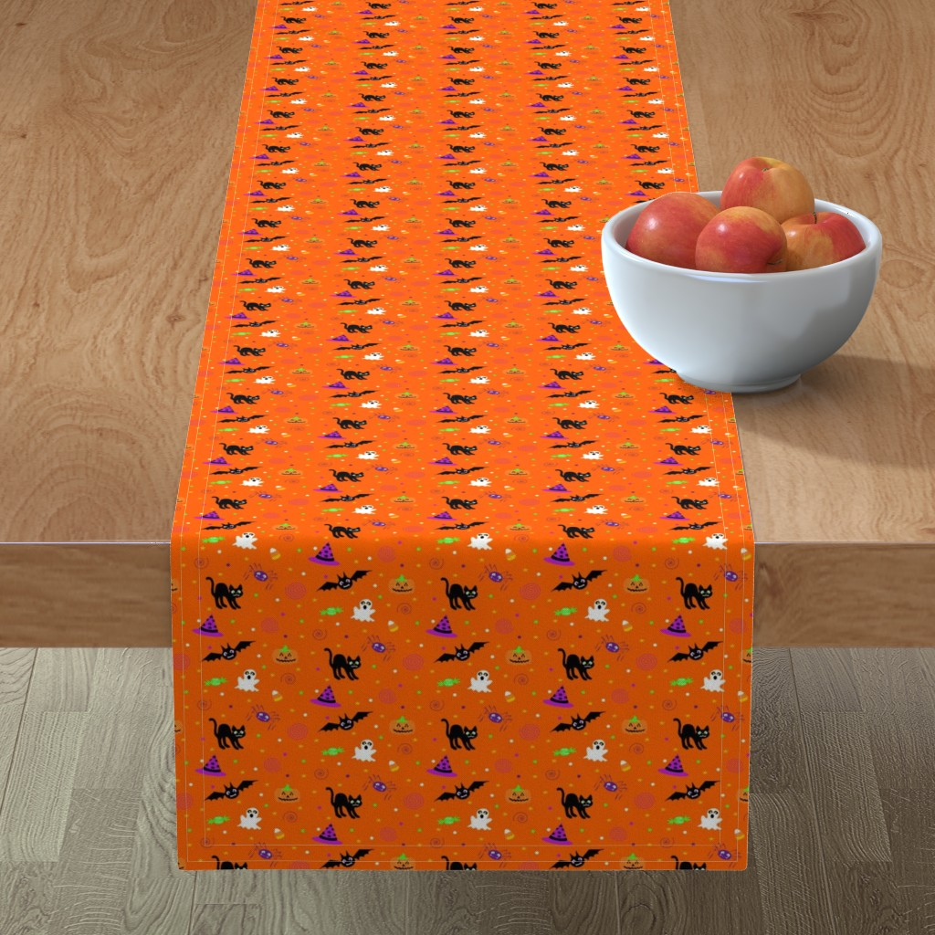 Minorca Table Runner featuring halloween_ditsy_print by mejo