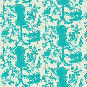 Sewing-Toile-de-Jouy-Teal