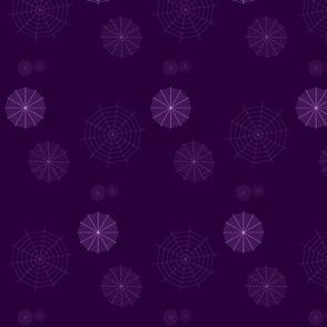 Purple Spiderwebs