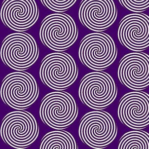 Royal Purple and White Spirals