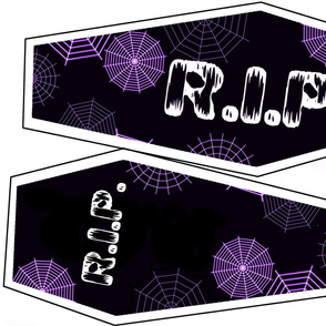 Purple And Black coffin pillow kit
