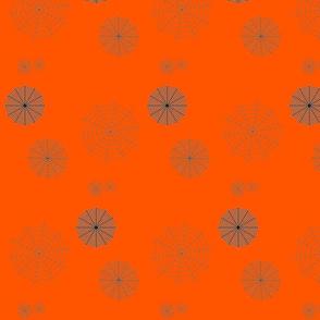 Orange Walking In The Spiderwebs