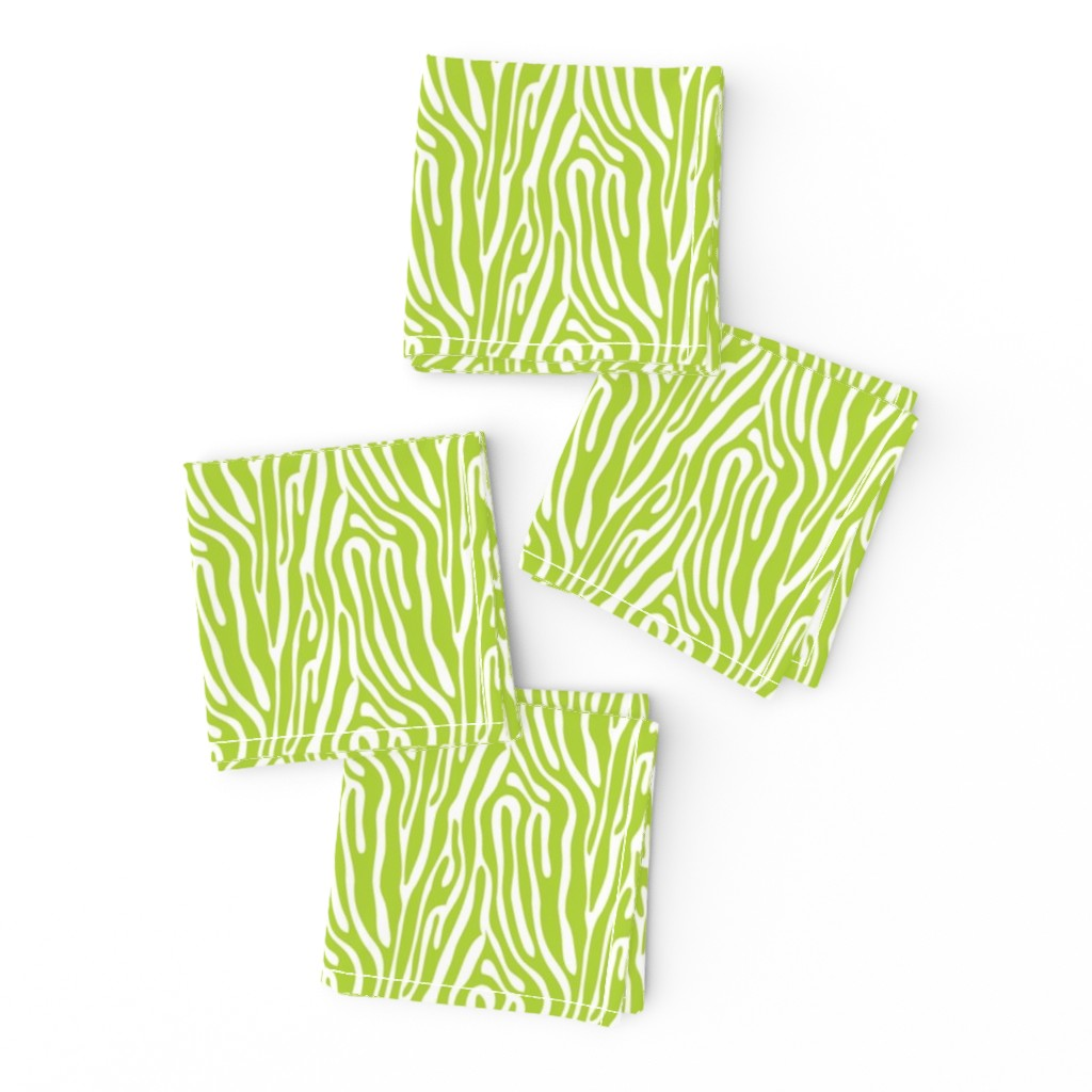Frizzle Cocktail Napkins featuring girls rock green zebra stripes by risarocksit
