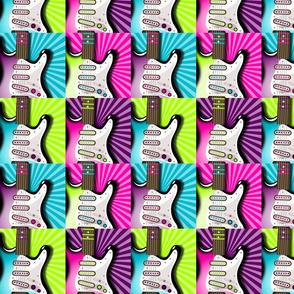 Girls Rock guitar pattern