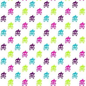 Girls Rock multi-colored skulls