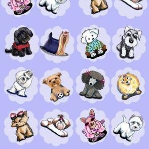 Dogs in Purple