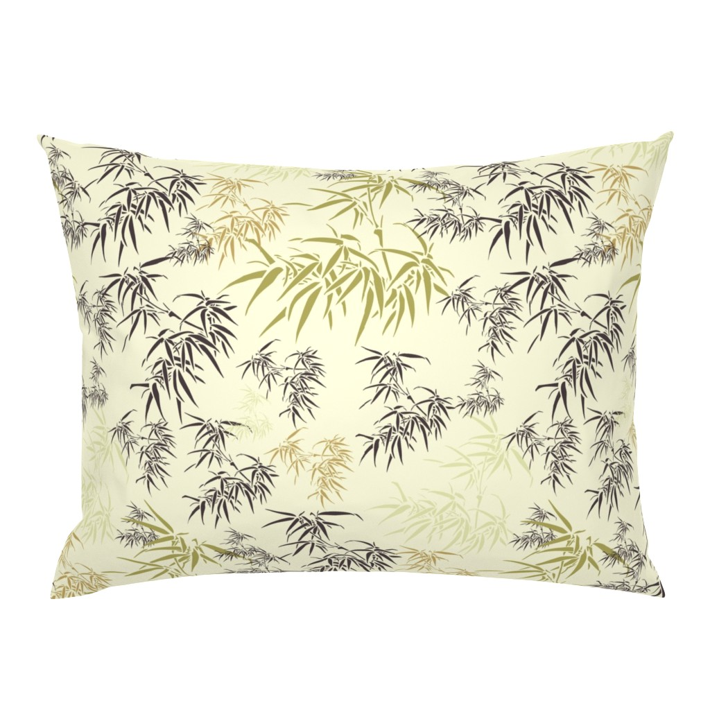 Campine Pillow Sham featuring Bamboo Leaves by candyjoyce