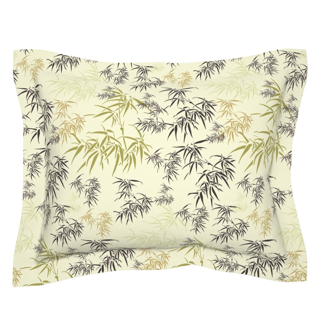 Sebright Pillow Sham featuring Bamboo Leaves by candyjoyce