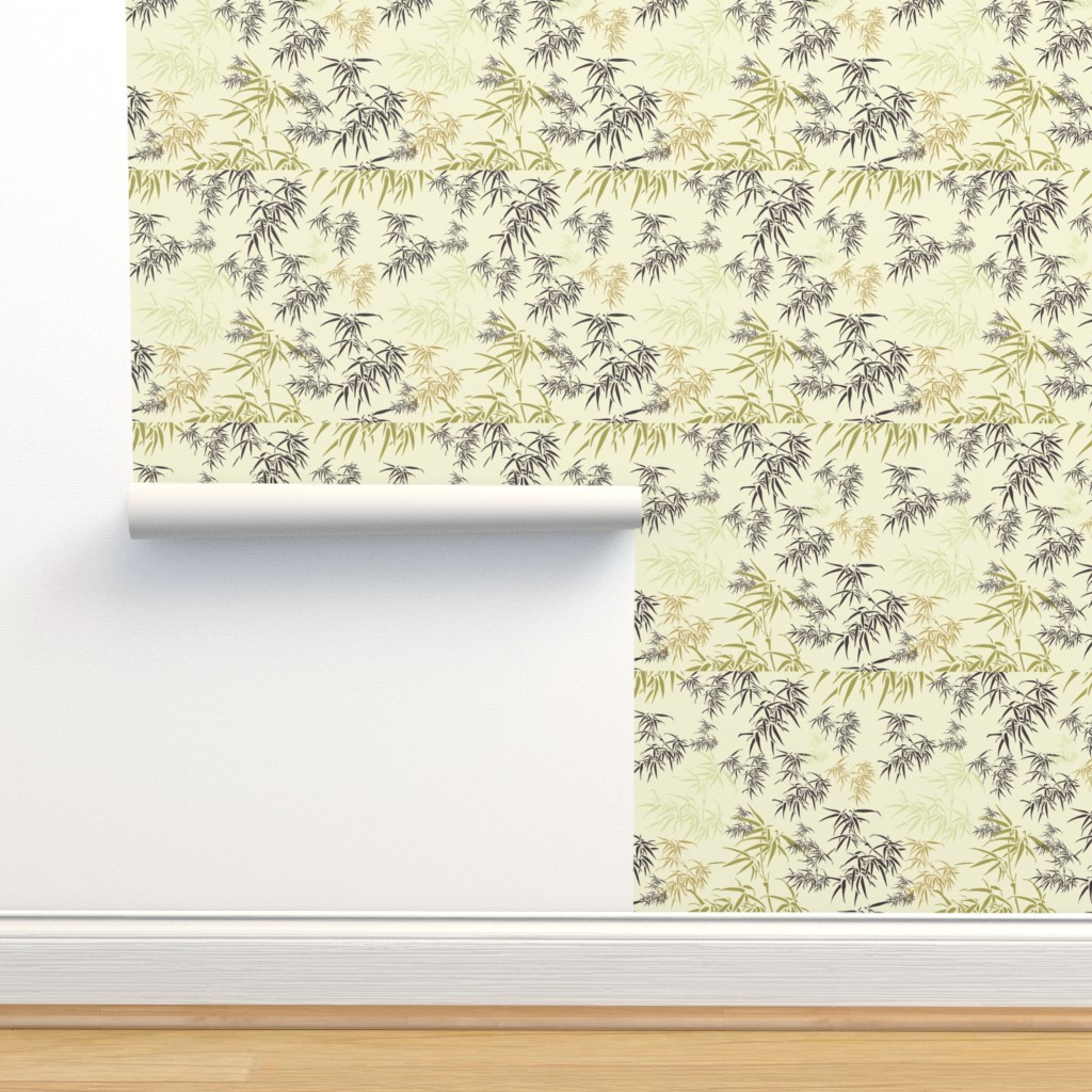 Isobar Durable Wallpaper featuring Bamboo Leaves by candyjoyce