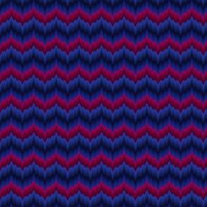 Bargello-work Flame-stitch Chevron Cheater Quilt