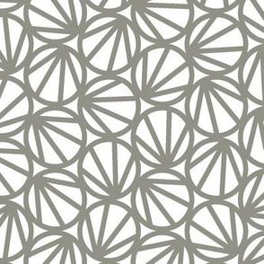 Mari - Geometric Circles - Steel Grey Line - Medium Scale