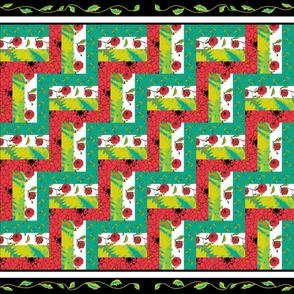 Rail_Fence_ Dahlia Quilt_4_triple_border_leaves
