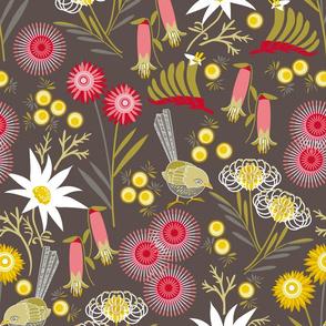 Wildflowers multi charcoal