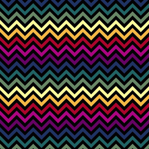Black & Rainbow Chevrons