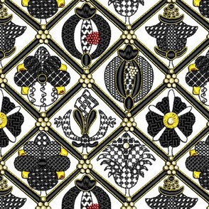 Elizabethan Blackwork with Goldwork and Pearls