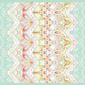 Springtime Damask Cheater Quilt