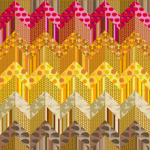Autumn Delights - Zig Zag Cheater Double Quilt