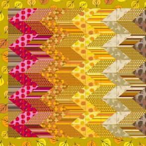 Autumn Delights - Zig Zag Cheater Quilt