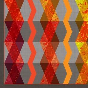 Roy G. Biv (zig-zag cheater quilt panel)