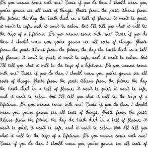 Black & White Handwritten Quote Text