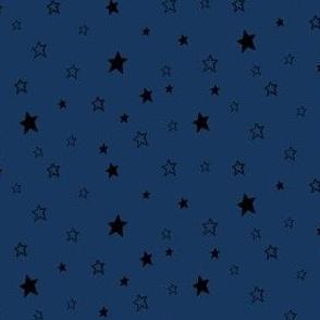 Black Stars on Dark Blue