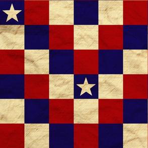Patriotic Cheater Quilt - Stars