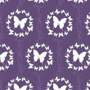 Purple Butterfly Wreath