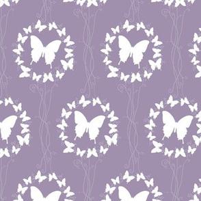 Lavender Butterfly Wreath
