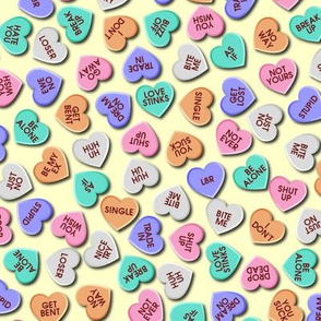 anti-valentine's day candy hearts