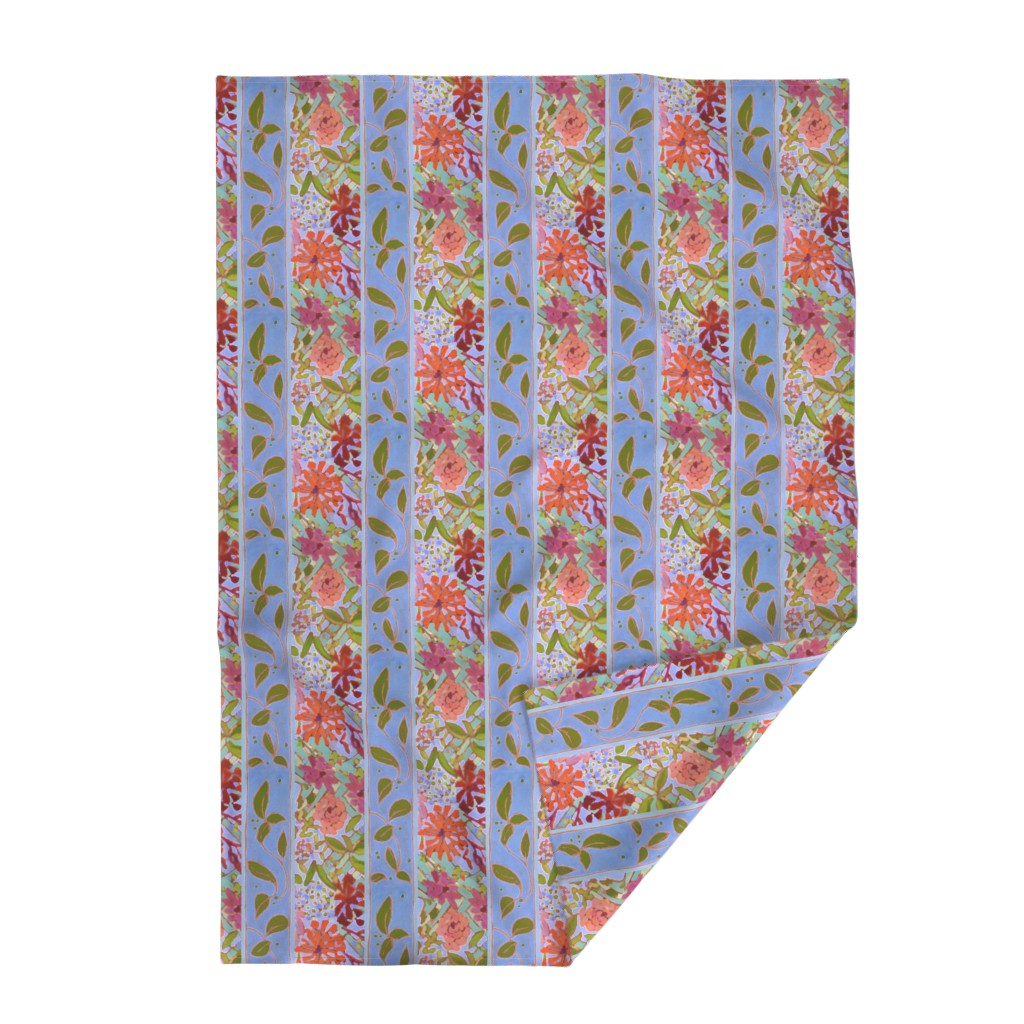 Lakenvelder Throw Blanket featuring Joy's Garden Blue Dog Autumn Plaid by dorothyfaganartist