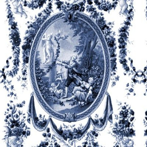 Rococo Swingers ~ Blue & White