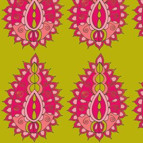 Pink Teardrop Paisley