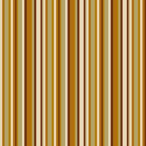 Mushroom Olive Stripes