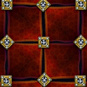 leather armor squares with brass and steel studs